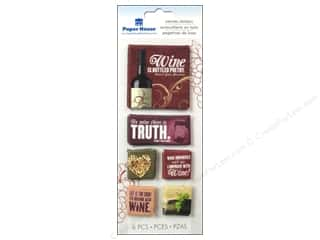 Paper House Sticker Canvas Wine