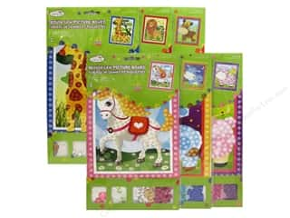 Multi's Embellishment  Yarn Projects & Kits: Multicraft Krafty Kids DIY Picture Board Assorted 6 Styles Animal (36 sets)
