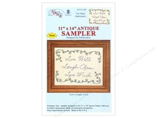 "Stamped Goods 14"": Jack Dempsey Sampler 11""x 14"" Live Laugh Love Antique"