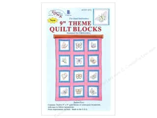 "Stamped Goods Stamped Quilt Blocks: Jack Dempsey 9"" Theme Quilt Blocks 12pc Butterflies"