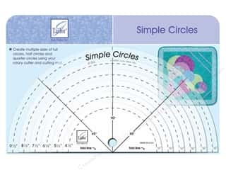 Seam Creaser $6 - $8: June Tailor Ruler Simple Circles 6pc
