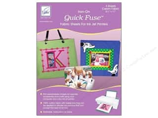 Fabric 1 Sheet: June Tailor Inkjet Fabric Sheet Quick Fuse Cream 3pc