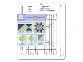 June Tailor Quilting Notions: June Tailor Ruler Perfect Half-Square Triangles