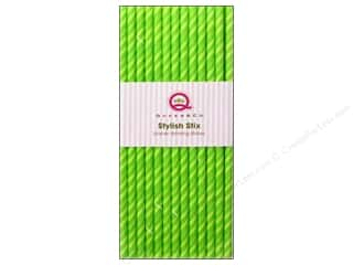 Queen & Company Baking Supplies: Queen&Co Stylish Stix Juicy Stripes Kiwi Kiss 25pc