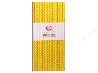 Queen & Company Craft & Hobbies: Queen&Co Stylish Stix Juicy Stripes Lemon Drop 25pc