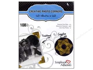 3L: 3L Scrapbook Adhesives Photo Corners Paper 108 pc. Gold