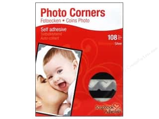 Photo Corners: 3L Scrapbook Adhesives Photo Corners Paper 126 pc. Silver