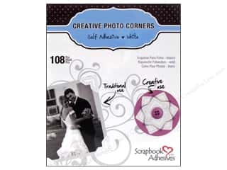 3L: 3L Scrapbook Adhesives Photo Corners Paper 108 pc. White