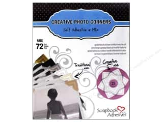 3L Scrapbook Adhesives Photo Corners Paper 72 pc. Mix