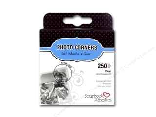 3L Photo Corners: 3L Scrapbook Adhesives Photo Corners Polypropylene 250 pc. Clear