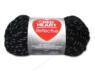 Sale Hearts: Coats & Clark Red Heart Reflective Yarn 3.5oz Black