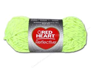 Red Heart Yarn: C&C Red Heart Reflective Yarn 3.5oz Neon Yellow