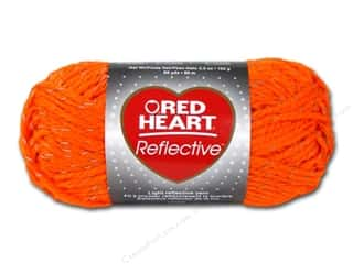 Red Heart Yarn: C&C Red Heart Reflective Yarn 3.5oz Neon Orange
