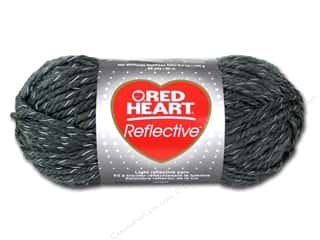 Hearts: Coats & Clark Red Heart Reflective Yarn 3.5oz Grey