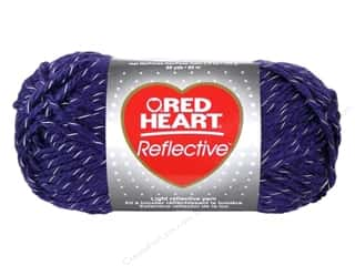 Coats & Clark Yarn: Coats & Clark Red Heart Reflective Yarn 3.5oz Purple