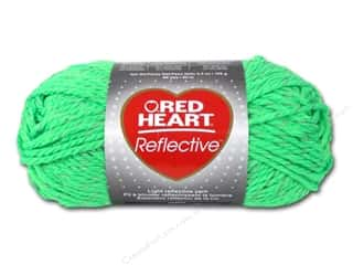Red Heart Yarn: C&C Red Heart Reflective Yarn 3.5oz Neon Green
