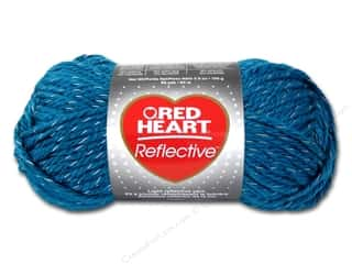 Coats & Clark Yarn: Coats & Clark Red Heart Reflective Yarn 3.5oz Peacock