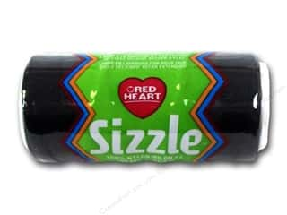 Macrame Hearts: Red Heart Sizzle Crochet Nylon 100 yd. Black