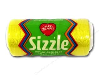 Macrame Hearts: Red Heart Sizzle Crochet Nylon 100 yd. Yellow