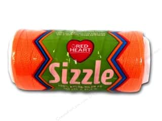 Red Heart Sizzle Crochet Nylon 100 yd. Neon Orange