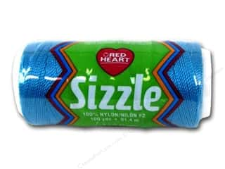 C&C Red Heart Sizzle Crochet Thread 100yd Parakeet