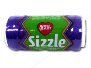 C&C Red Heart Sizzle Crochet Thread 100yd Purple
