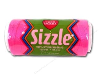 Needles / Knitting Needles Spring Cleaning Sale: Red Heart Sizzle Crochet Nylon 100 yd. Bright Pink