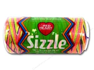 Red Heart Sizzle Crochet Nylon 100 yd. Neon Mix