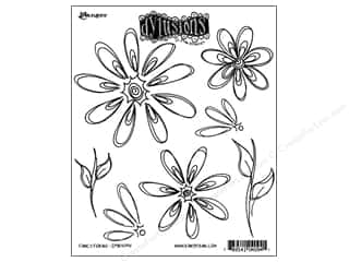 Ranger Dylusions Stamp Rubber Fancy Florals