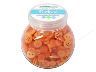 Buttons Galore & More Buttons: Buttons Galore Button Jar 5oz Orange Fizz