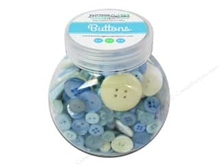 NEW EK Jolees Boutique Embellishments: Buttons Galore Button Jar 5oz Baby Boy