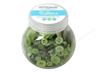 NEW EK Jolees Boutique Embellishments: Buttons Galore Button Jar 5oz Grasshopper