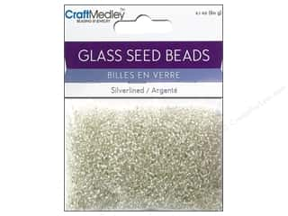 Toys $0 - $2: Multicraft Beads Seed 12/0 Silverlined Crystal