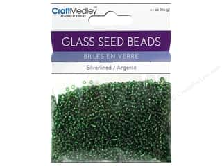 Multicraft Beads Seed 12/0 Silverlined Emerald
