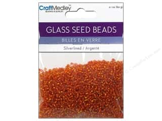 Multicraft Beads Seed 12/0 Silverlined Orange