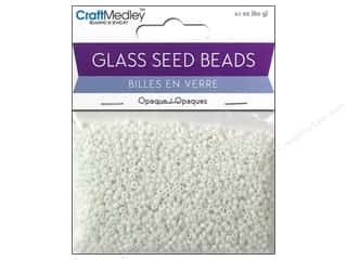Multi's Embellishment  Yarn: Multicraft Beads Seed 12/0 Opaque White