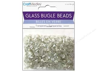 Toys Clear: Multicraft Beads Bugle Transparent 2x5mm Crystal Mix