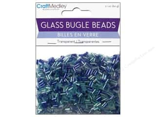 Toys Clear: Multicraft Beads Bugle Transparent 2x5mm Blues Fest