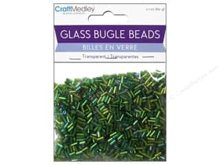 Craft & Hobbies Beads: Multicraft Beads Bugle Transparent 2x5mm Going Green