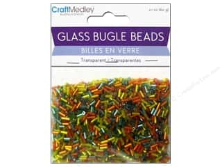 Multi's Embellishment  Yarn Toys: Multicraft Beads Bugle Transparent 2x5mm Tropical