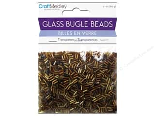 Toys Clear: Multicraft Beads Bugle Transparent 2x5mm Cola Mix