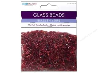 Beads Burgundy: Multicraft Beads Rocailles/Bugle Red