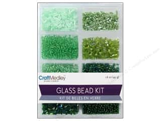 Beads Projects & Kits: Multicraft Beads Glass Kit Mix Going Green