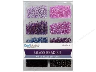 Beads Projects & Kits: Multicraft Beads Glass Kit Mix Viola