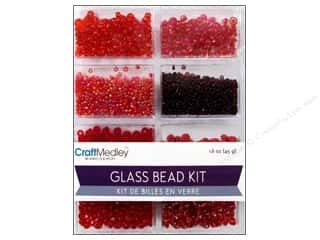 Kids Crafts Burgundy: Multicraft Beads Glass Kit Mix Rouge
