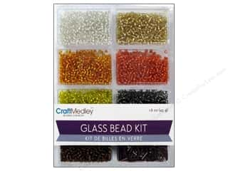 Beads Projects & Kits: Multicraft Beads Glass Kit Mix Dazzling Metallics