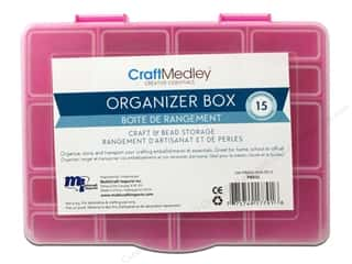 "Organizers Basic Components: Multicraft Organizer Box With Lid 6.5""x 5""x 1.25"""