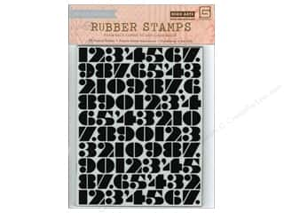 Stamps Foam Stamps: BasicGrey Rubber Stamps Capture - Number Background