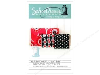 Purses $3 - $6: Schoolhouse Easy Wallet Set Pattern