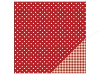 "Pebbles Inc $4 - $12: Pebbles Paper 12""x 12"" Basic Dot Rouge (25 pieces)"
